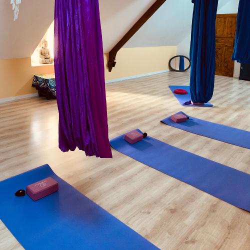 Week-end yoga féminin et découverte du yoga aérien en Corrèze