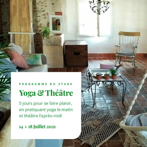 Stage Théâtre & Yoga en Val de Loire