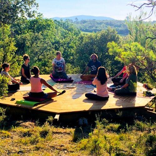 stage yoga aromatherapie domaine des sens séjour bien être Cévennes