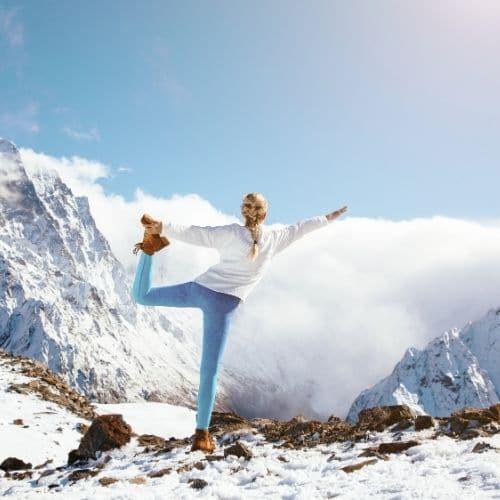 Weekend Raquettes et Yoga à Courchevel