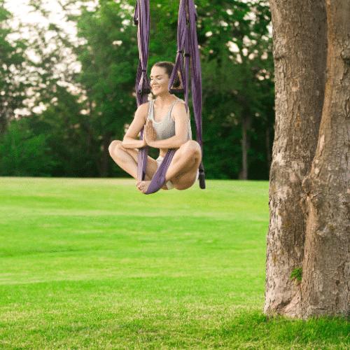 weekend yoga corrèze initiation yoga aerien